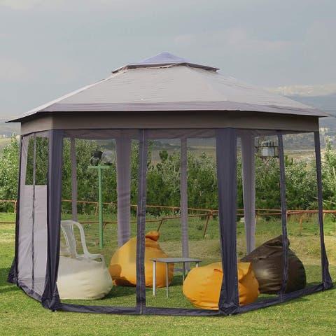 Masi 12-foot Hexagonal Pop-up Patio Gazebo by Havenside Home