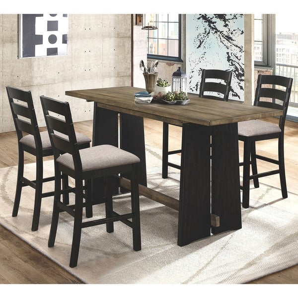 Farm Style Dining Set: Shop Modern Farm-House Design Counter Height Dining Set