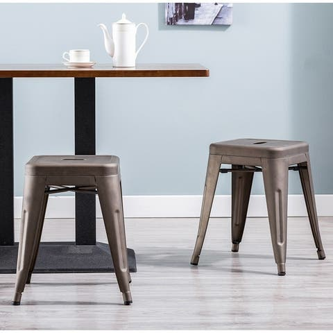 Carbon Loft D'artagnan 18-inch Backless Stool (Set of 4)