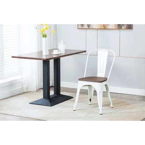 Porthos Home Valen Metal Dining Chair, Wooden Seat