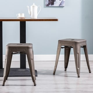 Link to Carbon Loft D'artagnan 18-inch Backless Metal Stool (Set of 2) Similar Items in Dining Room & Bar Furniture