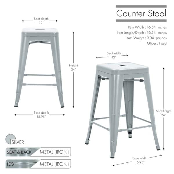 Groovy Shop Porthos Home Vali Stackable Metal Counter Stools Set Of Bralicious Painted Fabric Chair Ideas Braliciousco