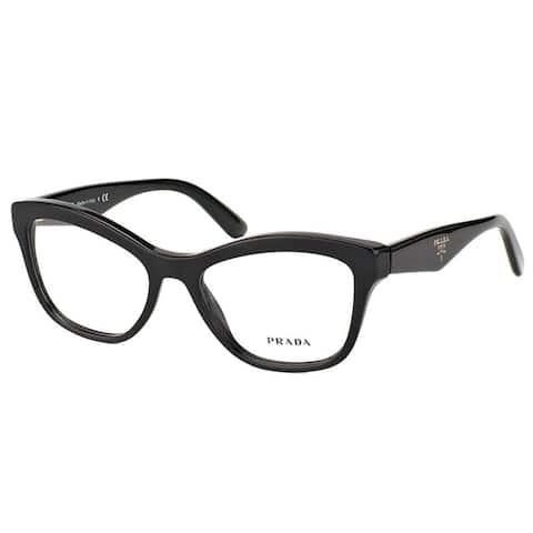 Prada PR 29RV 1AB1O1 Women's Black Plastic Frame 54-millimeter Eyeglasses