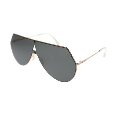 05e61c21a4bbb Fendi Eyeline FF 0193 DDB Unisex Gold Copper Frame Grey Lens Sunglasses