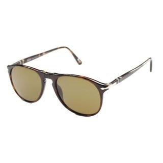 Persol  PO 9649 24/57 52mm Unisex Havana Frame Brown Polarized Lens Sunglasses