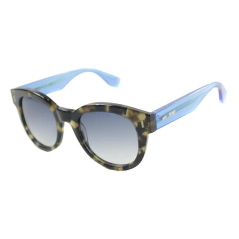 3c002300df Fendi FF 0026 7OO Womens Brown Frame Blue Gradient Lens Sunglasses