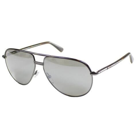 d954282115 Tom Ford Cole TF 285 52F Unisex Black Frame Smoke Mirror Lens Sunglasses