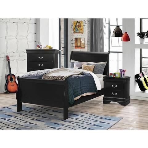 Hilltop Black 4-piece Sleigh Bedroom Set