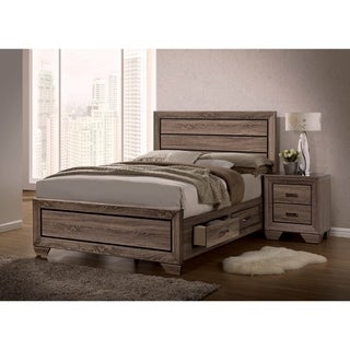 Oatfield Washed Taupe 6-piece Storage Bedroom Set