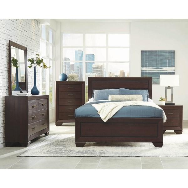 Ridgeview Dark Cocoa 5-piece Panel Bedroom Set with 2 Nightstands
