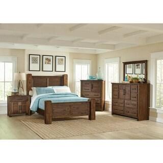 Murdock Vintage Bourbon 4-piece Panel Bedroom Set with 2 Nightstands
