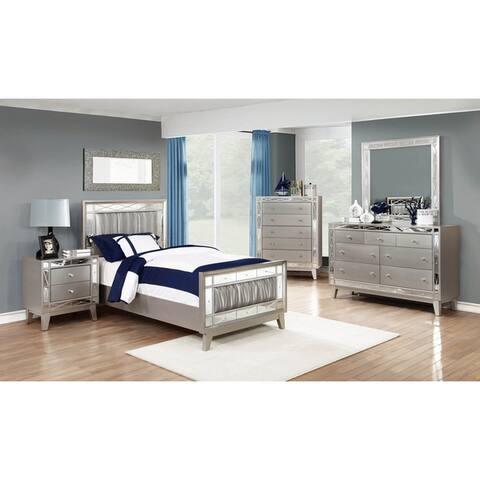 Milan Metallic Mercury 6-piece Panel Bedroom Set