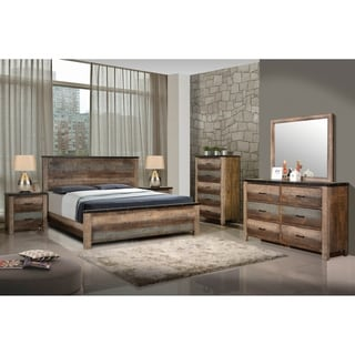 Portsmouth Antique Multi-color 4-piece Bedroom Set with 2 Nightstands