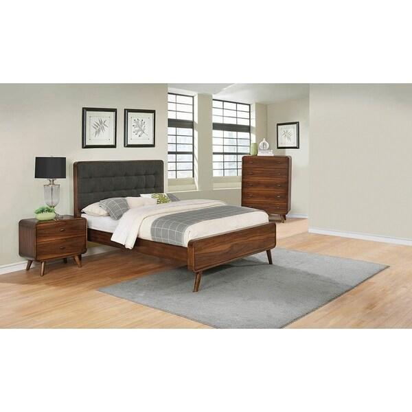 Carson Carrington Ufnas Dark Walnut 3-piece Platform Bedroom Set