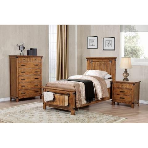 Corvallis Rustic Honey 6-piece Storage Bedroom Set