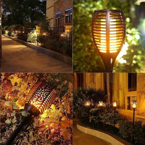 Waterproof Outdoor Deco Dancing Flame Solar Garden Light Decoration