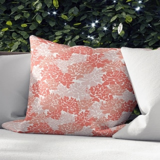 Porch & Den Sedlak Coral Peonies Accent Pillow