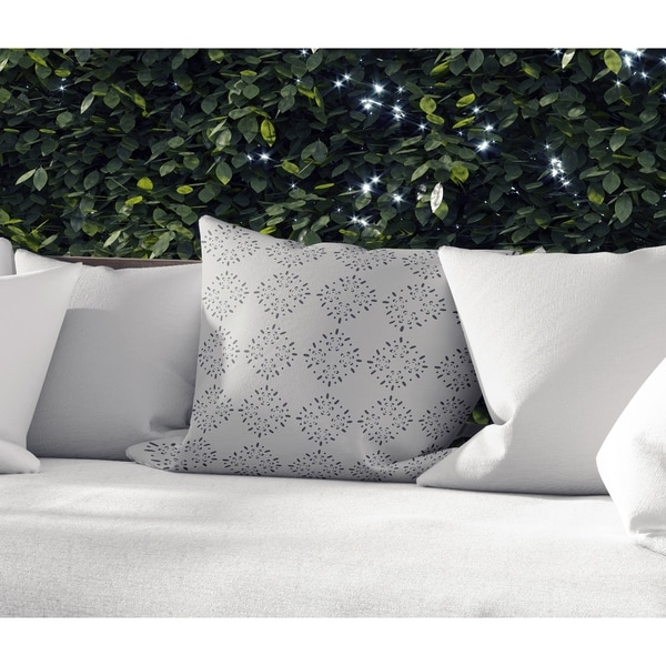 BRILLAR GREY Indoor|Outdoor Pillow By Kavka Designs