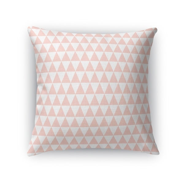 TRIANGLE MAZE BLUSH Accent Pillow By Kavka Designs