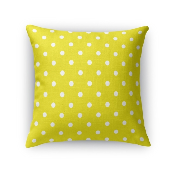 POLKA DOTS YELLOW Accent Pillow By Kavka Designs
