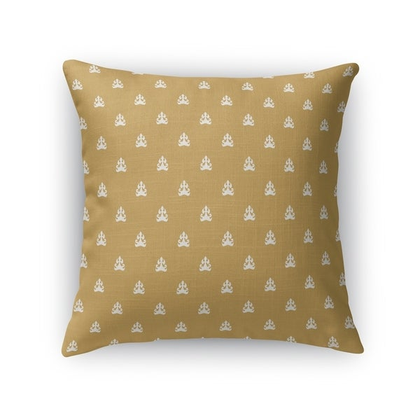 BOREY GOLD Indoor|Outdoor Pillow By Kavka Designs