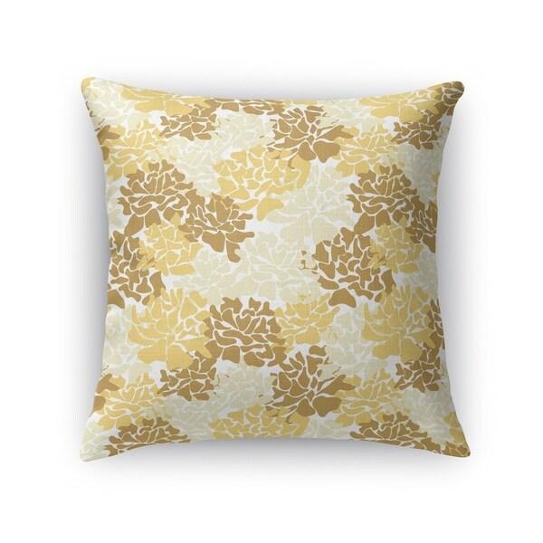 PEONIES YELLOW Indoor|Outdoor Pillow By Kavka Designs