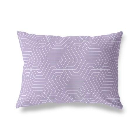 BRICKLE PURPLE Lumbar Pillow By Kava Designs