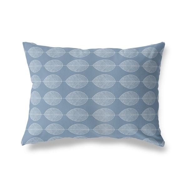 LEAF KEEF BLUE Lumbar Pillow By Kavka Designs