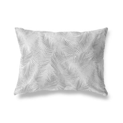 PALM CHEER GREY Lumbar Pillow By Kava Designs