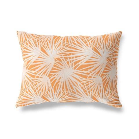 PALM BALM ORANGE Lumbar Pillow by Kava Designs
