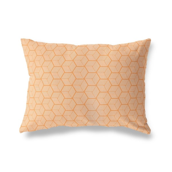 GEOCUBE ORANGE Lumbar Pillow By Kavka Designs