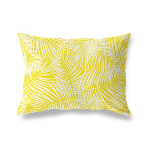 PALM PLAY YELLOW Lumbar Pillow By Kava Designs