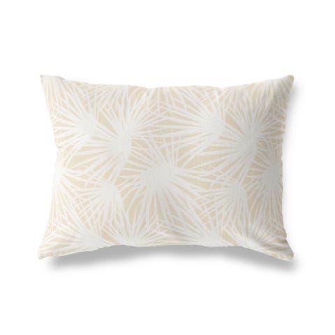 PALM BALM OATMEAL Lumbar Pillow By Kava Designs