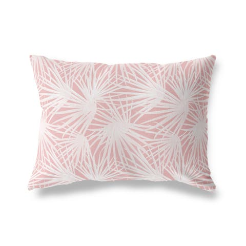PALM BALM PINK Lumbar Pillow By Kava Designs