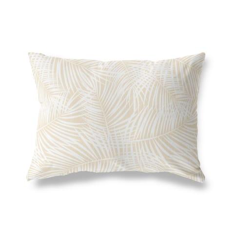 PALM PLAY OATMEAL Lumbar Pillow By Kava Designs