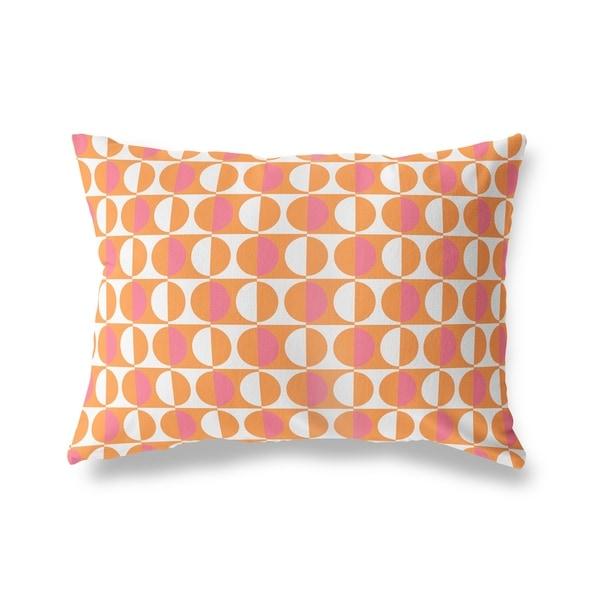 MOD SQUAD ORANGE PINK Lumbar Pillow By Kavka Designs