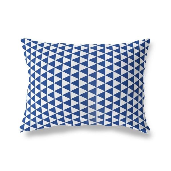 TRIANGLE MAZE BLUE Lumbar Pillow By Kavka Designs