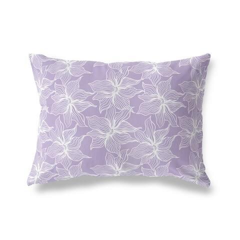 POSEIDON PURPLE Lumbar Pillow By Kava Designs