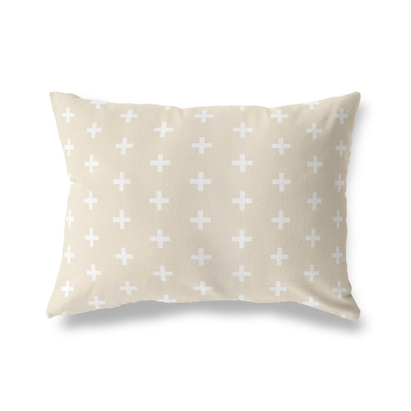 CRISS CROSS CREAM Lumbar Pillow By Kavka Designs