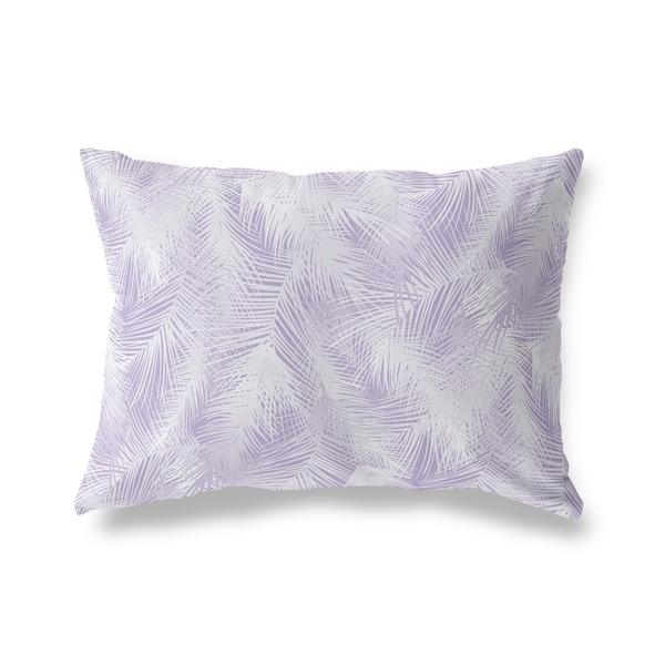 PALM CHEER PURPLE Lumbar Pillow By Kavka Designs