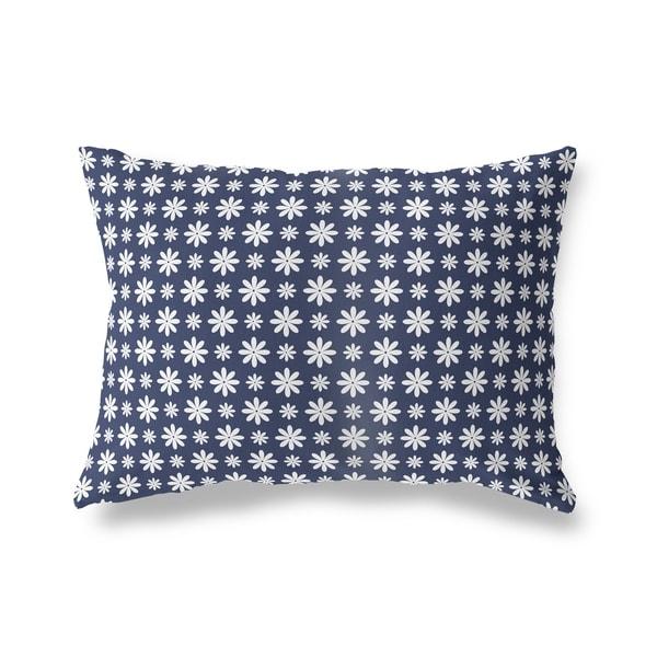 FLOWER SHOWER NAVY Lumbar Pillow By Kavka Designs