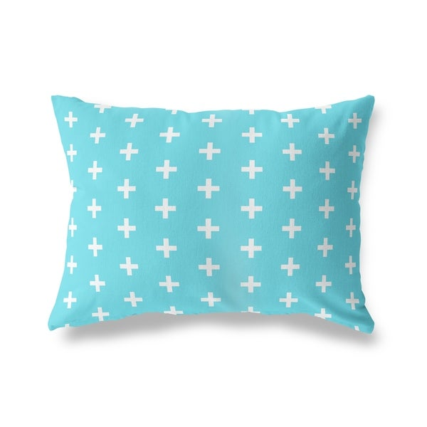 CRISS CROSS TEAL Lumbar Pillow By Kavka Designs