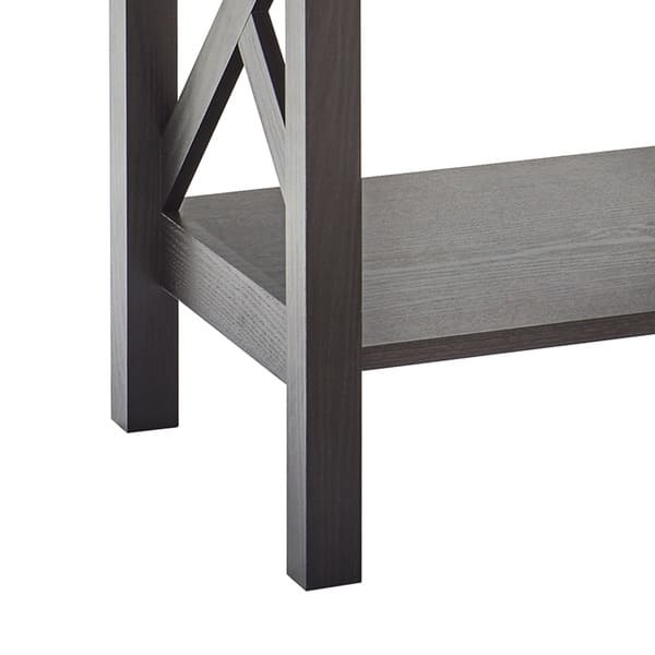 The Gray Barn Xanadu Hill X Frame Two Tier End Table