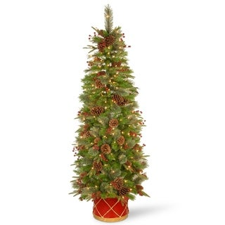 6 ft. Colonial Slim Half Tree with Clear Lights