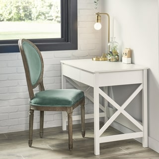 The Gray Barn Xanadu Hill X-frame Writing Desk with 2 Drawers
