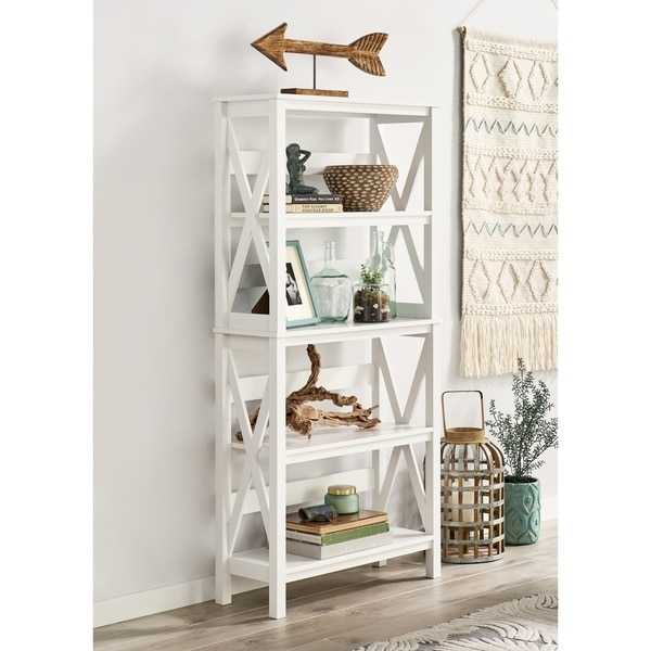 The Gray Barn Xanadu Hill X-frame 5-tier Bookshelf. Opens flyout.