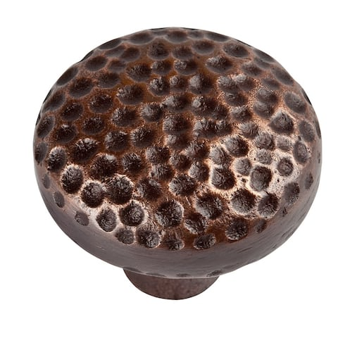 Solid Cast Copper Large Round Knobs Set of Three, The Copper Factory