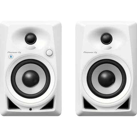 "Pioneer DM-40BT-W 4"" Desktop Monitor Speakers w/ Bluetooth® Connection, Pair - White"