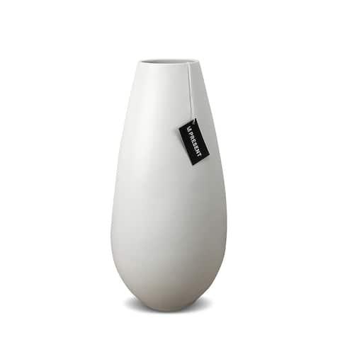 Drop Wide 13.7 Inch Ceramic Vase