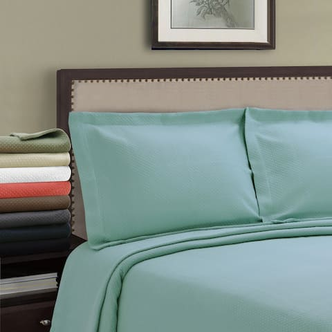 Superior Jacquard Matelasse Solitaire Cotton Bedspread Set